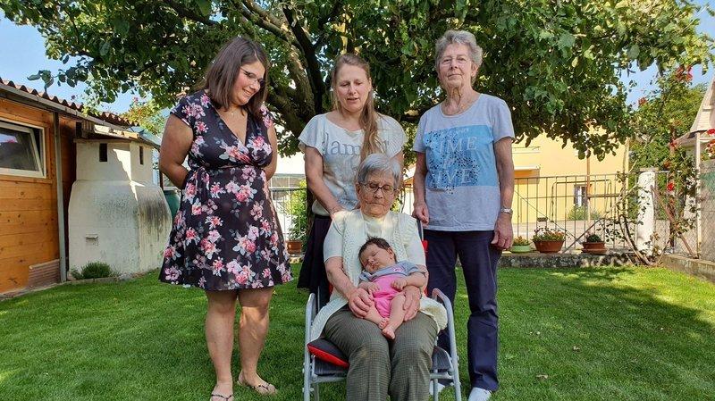 Cinq générations de filles en 96 ans, entre Peseux et le Val-de-Ruz