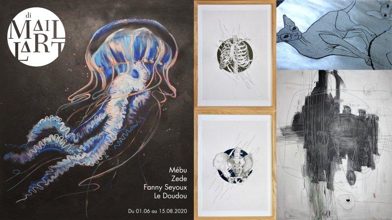 Expo: Mébu / Zede / Fanny Seydoux / Le Doudou