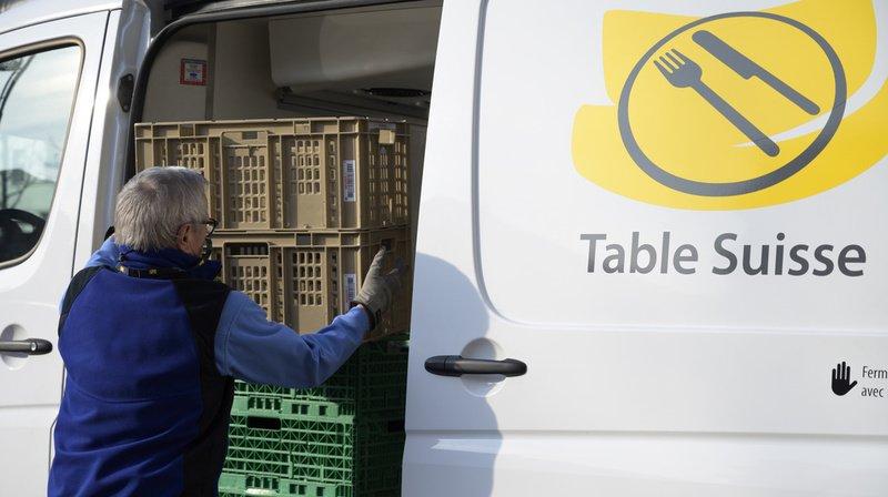 Table Suisse augmente ses livraisons d'aide alimentaire