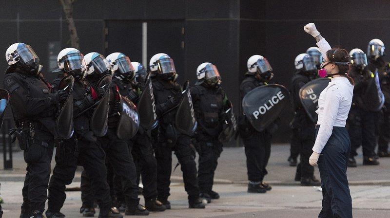 La plupart des manifestants montréalais portaient un masque.