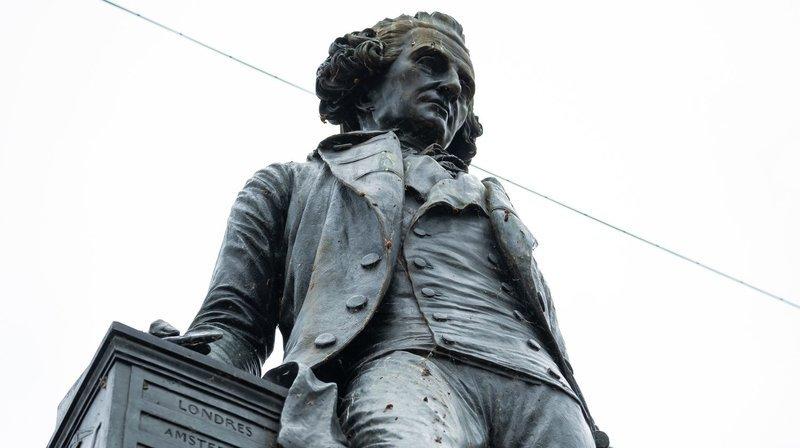 A Neuchâtel, une pétition réclame le retrait de la statue de David de Pury.