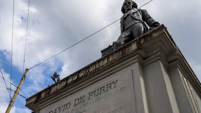 Faut-il laisser la statue de David de Pury sur son socle?