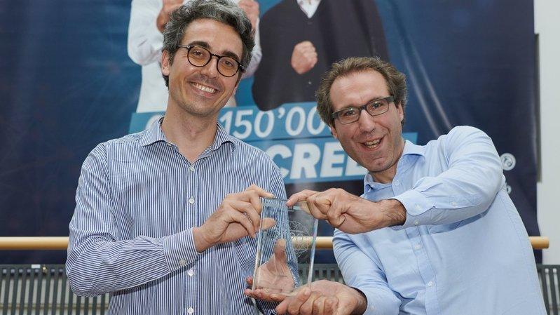 La start-up neuchâteloise Infrascreen (ici Henri de Lalande et Benoît de Combaud, de g. à dr.) a remporté le Prix BCN Innovation en 2020.