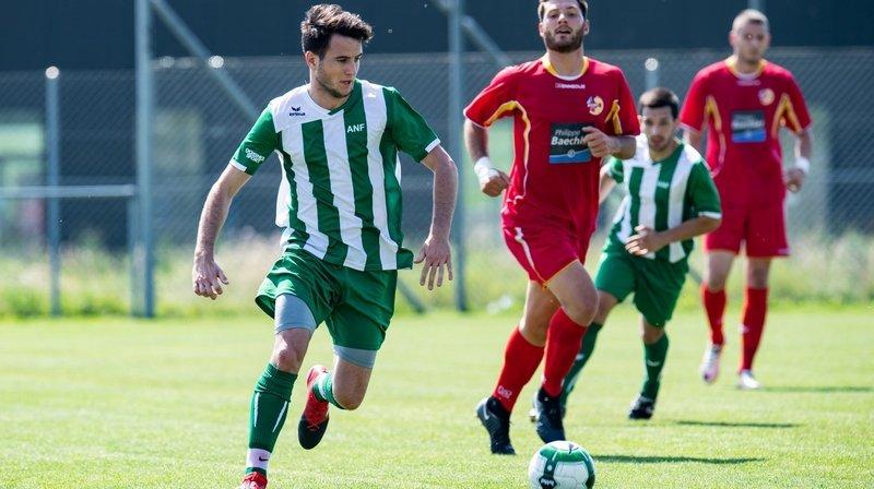 Jules Challandes, ici en vert avec la sélection de l'ANF, sera le nouvel entraîneur de la deuxième équipe du FC Le Locle.