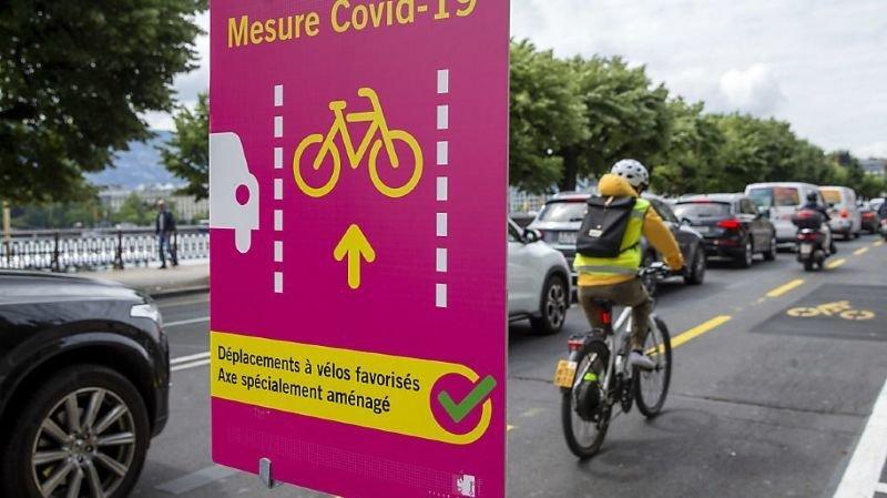 Mobilité douce: en Suisse, le coronavirus dope l'utilisation du vélo