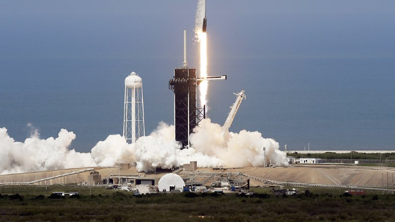 La fusée a décollé vers la Station spatiale internationale.