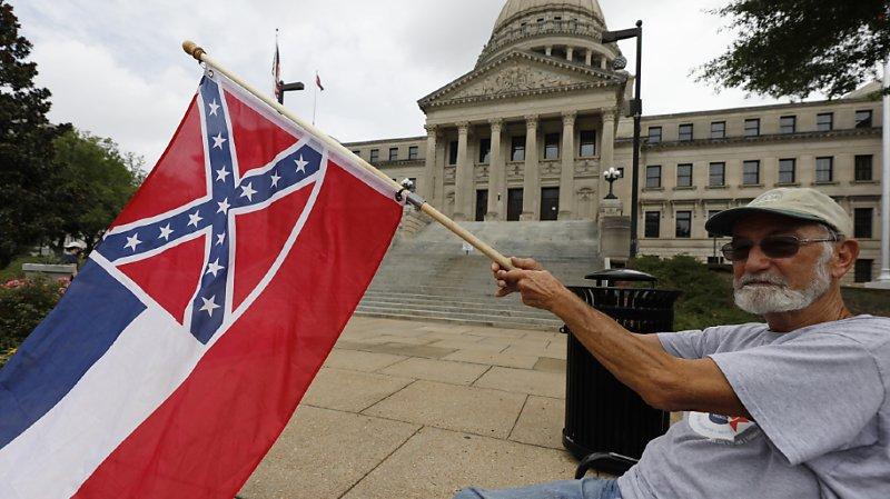 Le Mississippi est le dernier Etat à arborer l'insigne confédéré sur son drapeau depuis que la Géorgie y a renoncé en 2003 (archives).