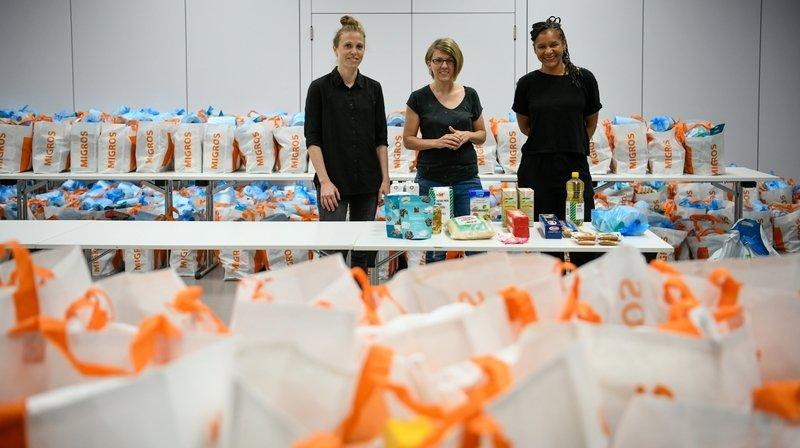 Plus de 500 sacs de vivres offerts à Neuchâtel