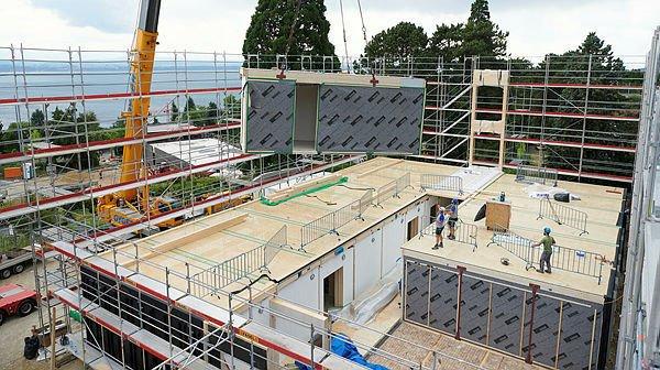 Neuchâtel: le collège de Beauregard se construit tel un jeu de Lego