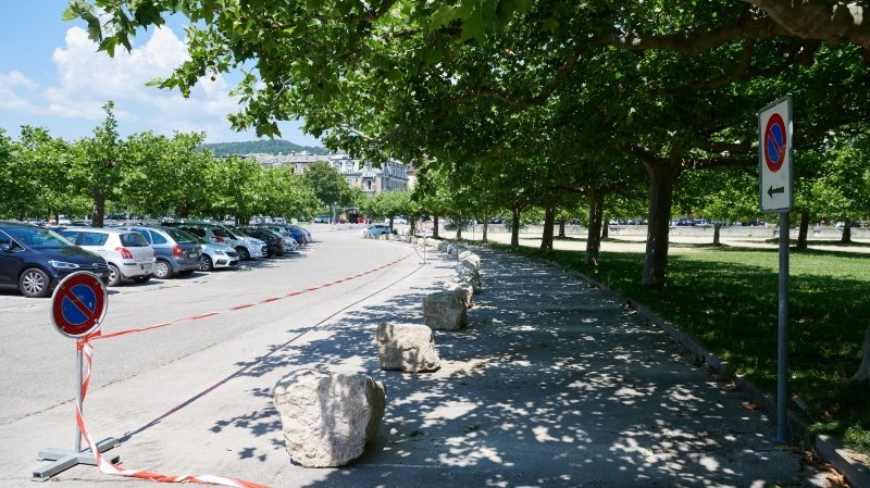 Neuchâtel: trente places de parc ajoutées, puis supprimées aux Jeunes-Rives