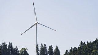 Crêt-Meuron: trois des sept éoliennes seront arrêtées en hiver