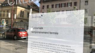 La Chaux-de-Fonds: Credit Suisse a éteint la lumière pendant le semi-confinement