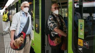Dès lundi matin, les masques seront obligatoires dans les véhicules de TransN, CFF et CarPostal