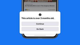 Facebook vous prévient désormais si vous partagez un article publié il y a plus de 3 mois