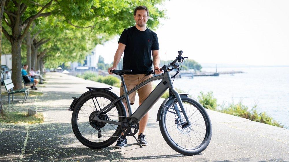 Hajdar Basic, 33 ans, fait partie des nouveaux adeptes du vélo électrique.