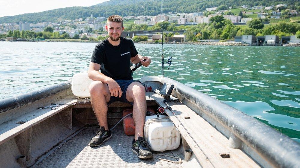 Le pêcheur d'Hauterive Mathias Progin fait un apprentissage de mécanicien en machines agricoles.