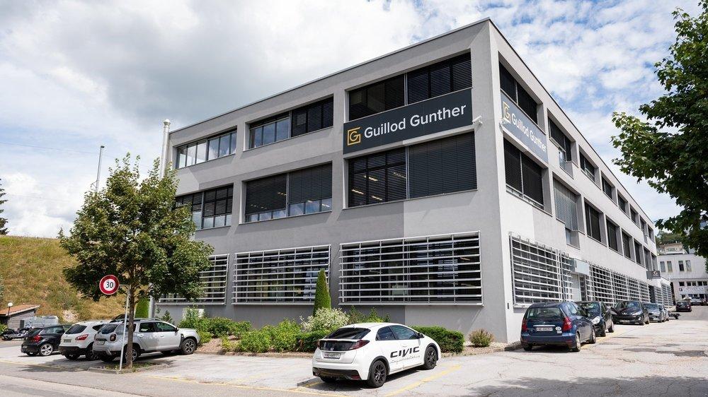 Les nouveaux locaux de Guillod-Günther, rue de l'Hôtel-de-Ville, à La Chaux-de-Fonds.