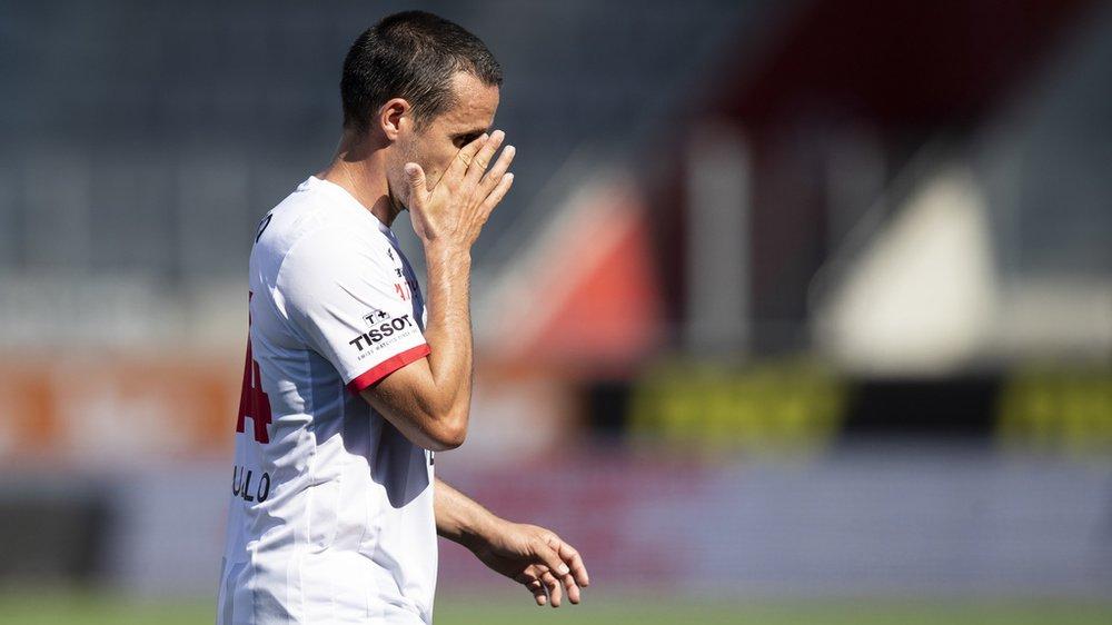 Raphaël Nuzzolo n'a pas réussi à peser sur la défense thounoise ce dimanche.