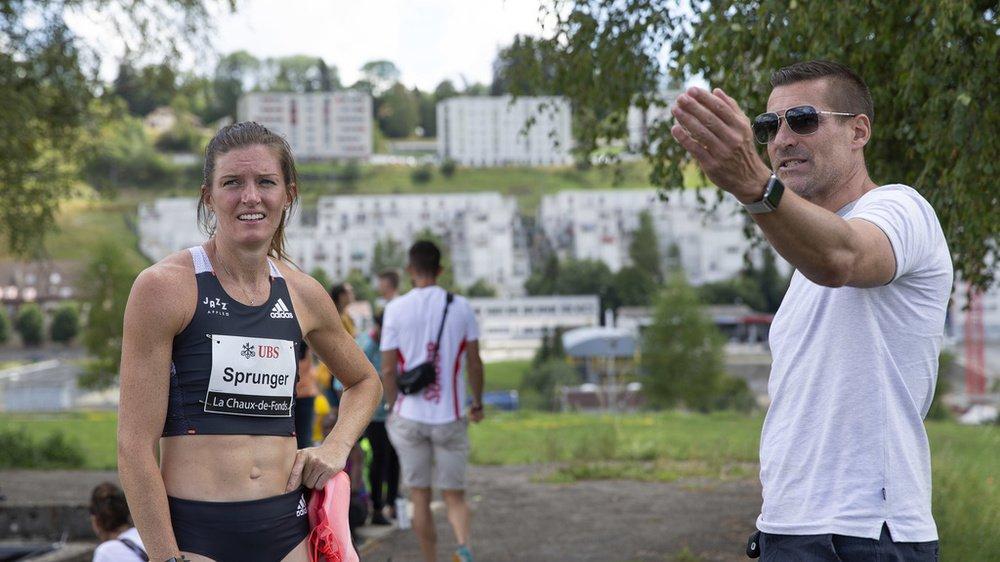 Lea Sprunger et son entraîneur Laurent Meuwly se montraient satisfaits.