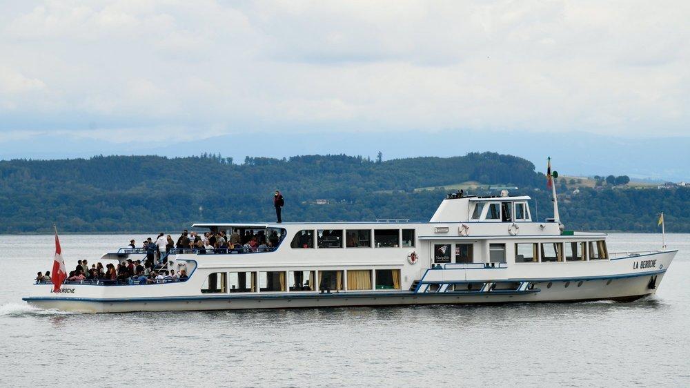 La Société de navigation sur les lacs de Neuchâtel et Morat a enregistré une baisse de fréquentation supérieure à 20% durant ce mois de juillet.  Neuchatel, le 17 juillet 2020Photo: Christian Galley