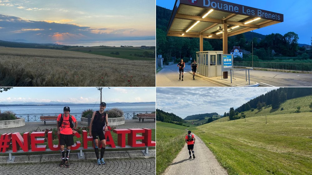 Les deux amis ont réalisé un véritable tour du canton de Neuchâtel en moins de deux jours.
