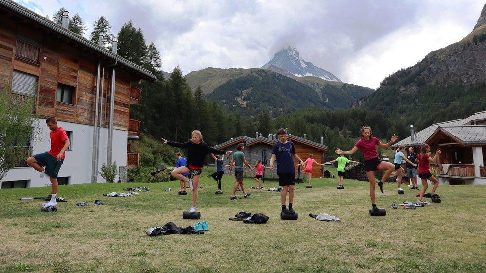 Les jeunes du Giron jurassien ont leurs habitudes à Zermatt: pour que leur entraînement soit le plus efficace possible.