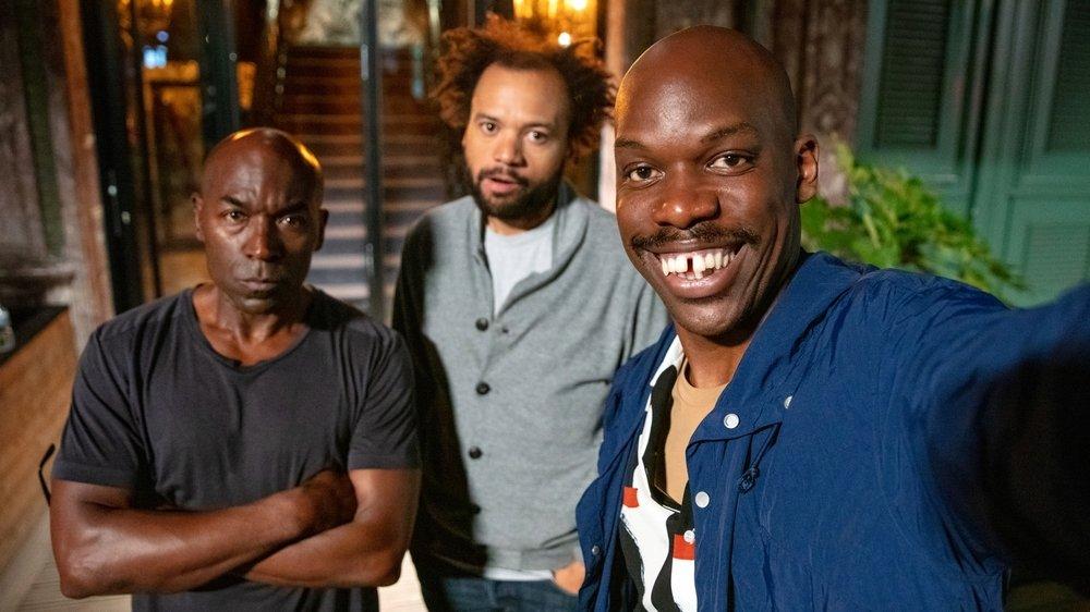 Le grand JP avec Lucien Jean-Baptiste et Fabrice Eboué.
