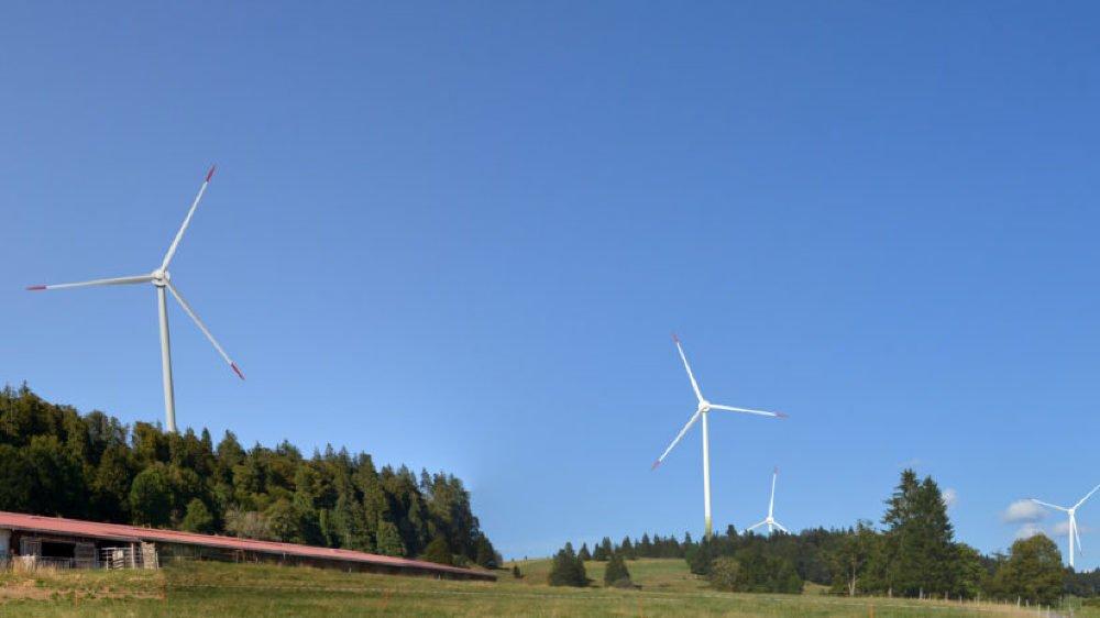 Le parc éolien des Quatre Bornes, à cheval sur Sonvilier et Val-de-Ruz, a enregistré cinq oppositions côté neuchâtelois, dont la Ville de La Chaux-de-Fonds.