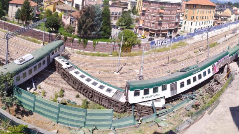 Italie: un train part sans son conducteur et déraille, trois blessés