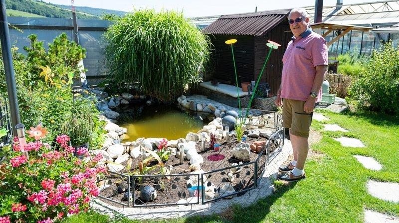 L'ancien horticulteur profite du semi-confinement pour bichonner son jardin