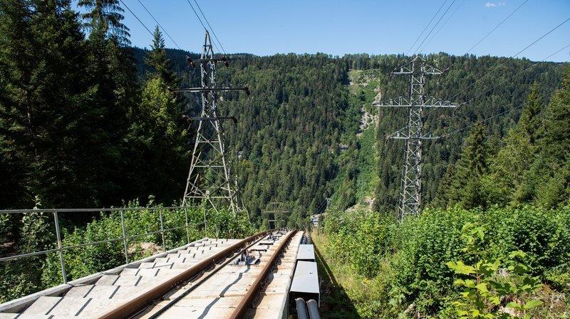 Perché au-dessus du Doubs, l'un des funiculaires les plus raides du monde