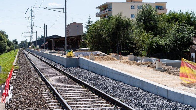 La gare de la Fiaz prend forme à La Chaux-de-Fonds