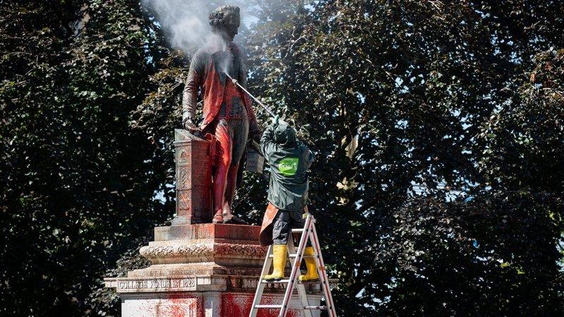Libre opinion: nos lecteurs réagissent à l'acte de vandalisme qui a touché la statue de David de Pury