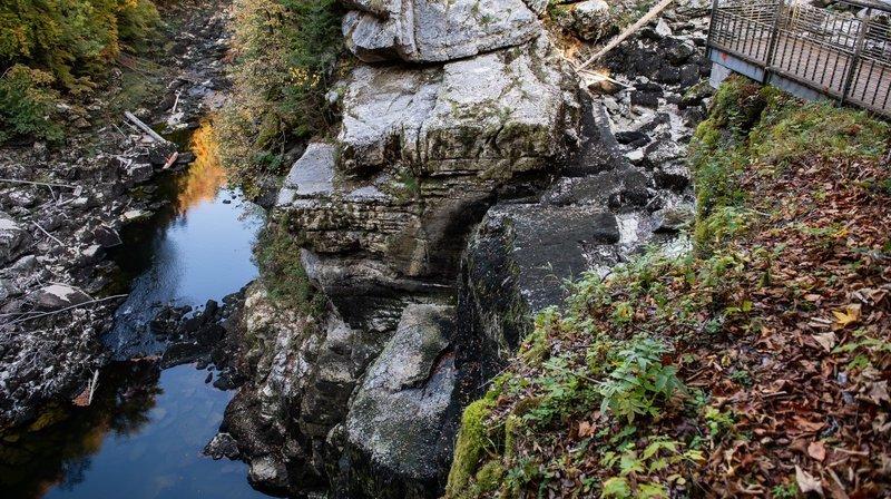 Déjà en 2018, la chute du Saut-du-Doubs était a sec.