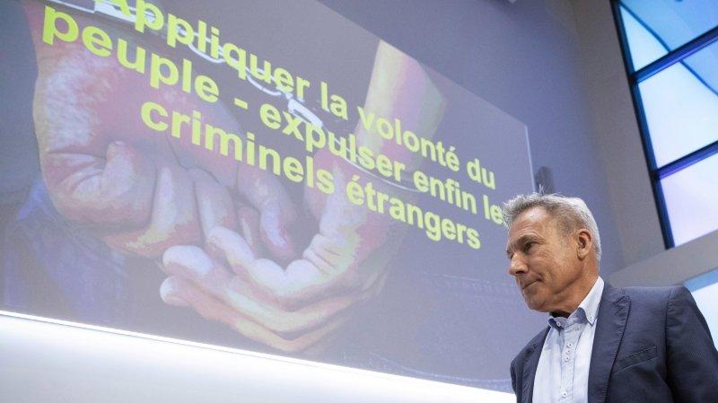 L'UDC veut une application plus ferme de l'initiative pour le renvoi des criminels étrangers