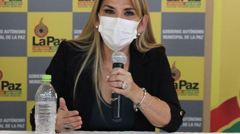 La présidente bolivienne par intérim Janine Añez a annoncé jeudi qu'elle était positive au Covid-19 (archives).