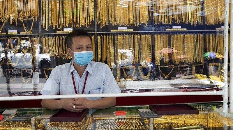 La valorisation de l'or a été alimentée par les incertitudes liées à la pandémie et l'affaissement du billet vert. (illustration)
