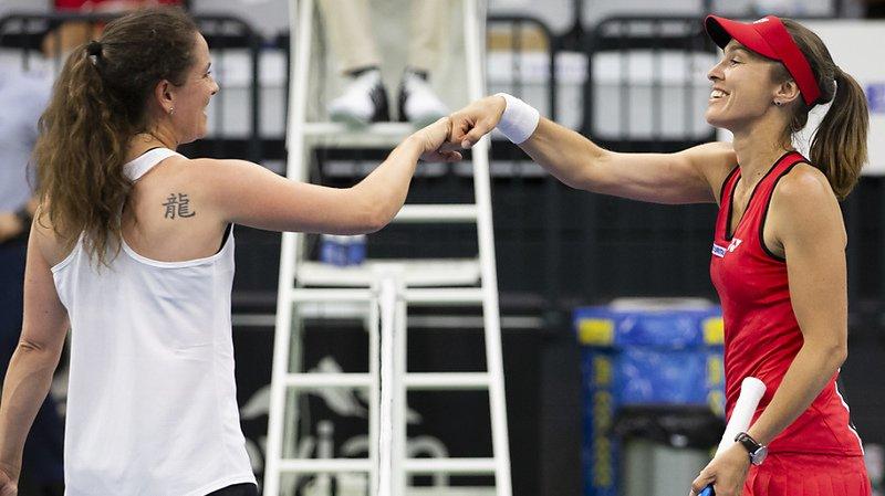 """Dans le match des """"légendes"""", Martina Hingis a pris le meilleur sur Patty Schnyder."""