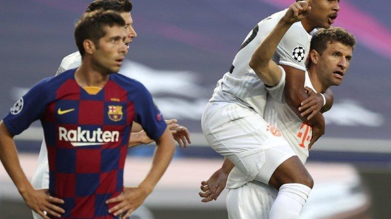 Thomas Müller et Serge Gnabry peuvent exulter: ils ont proposé au Barça une démonstration de force.
