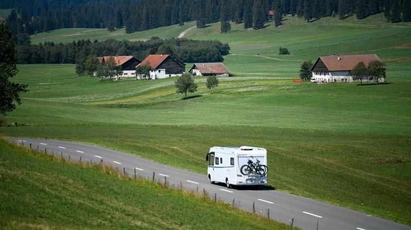 Davantage de places pour les camping-cars dans le canton de Neuchâtel