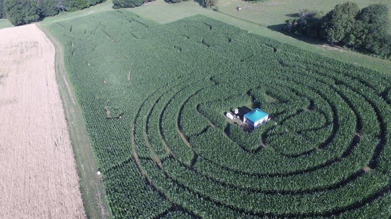 Le domaine de Bel-Air propose cette année un petit labyrinthe pour les enfants, et un grand.