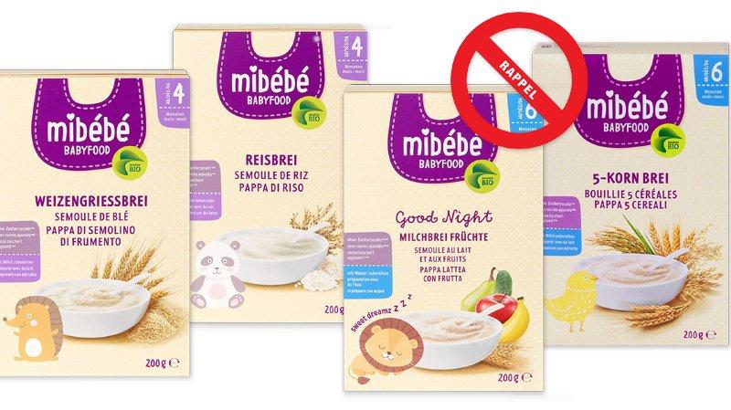 Rappel de produits: des bouillies pour bébé de la Migros peuvent causer des infections graves