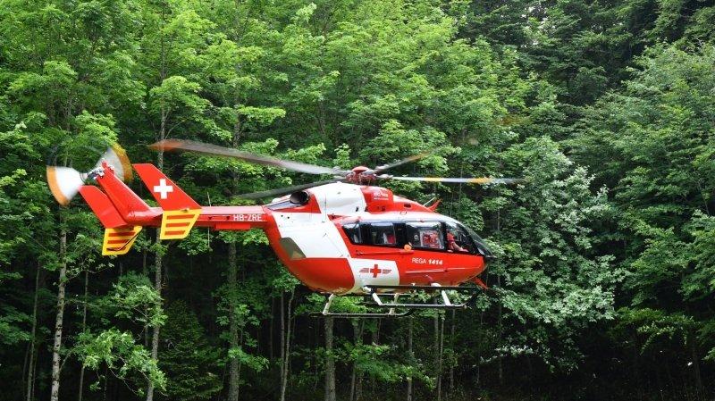 Fillette héliportée à l'hôpital dans le Jura