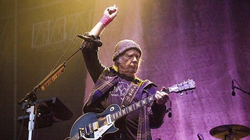 Neil Young a dénoncé à plusieurs reprises l'utilisation de ses chansons par Donald Trump lors de ses meetings électoraux (archives).