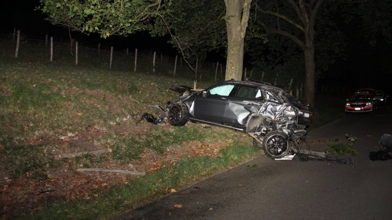 Gros accident à Courtedoux, un blessé