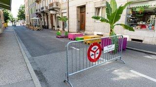 Neuchâtel: une fermeture de rue fait des vagues