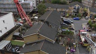 Une grue s'effondre à Londres: un mort et quatre blessés