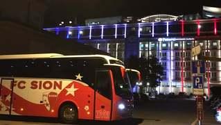 Les joueurs du FC Sion sont à Neuchâtel depuis mardi soir
