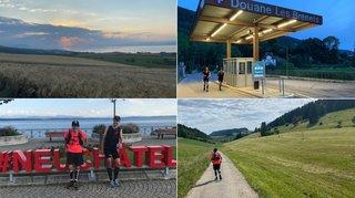 Deux potes réalisent le tour du canton de Neuchâtel à la course: 212 kilomètres en 34 heures