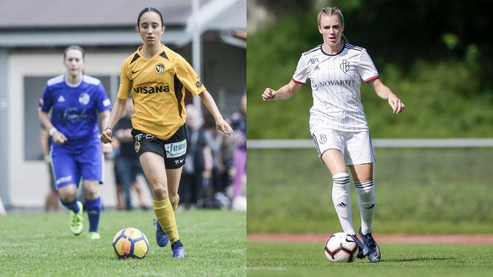 Ilona Guede Redondo (à gauche) et Camille Surdez ont plusieurs points communs. Deux d'entre eux étant d'être Neuchâteloises et d'évoluer en Women's Super League.
